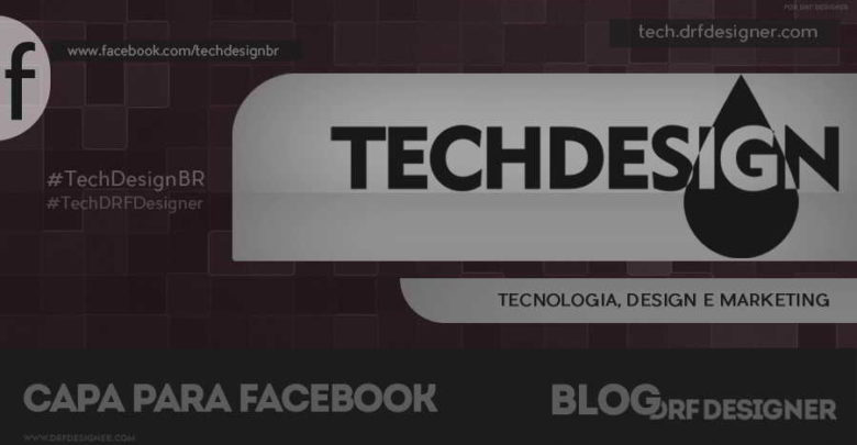 Capa TechDesign - para Página no Facebook - v3 verm opt - 900x471px - Blog DRF Designer