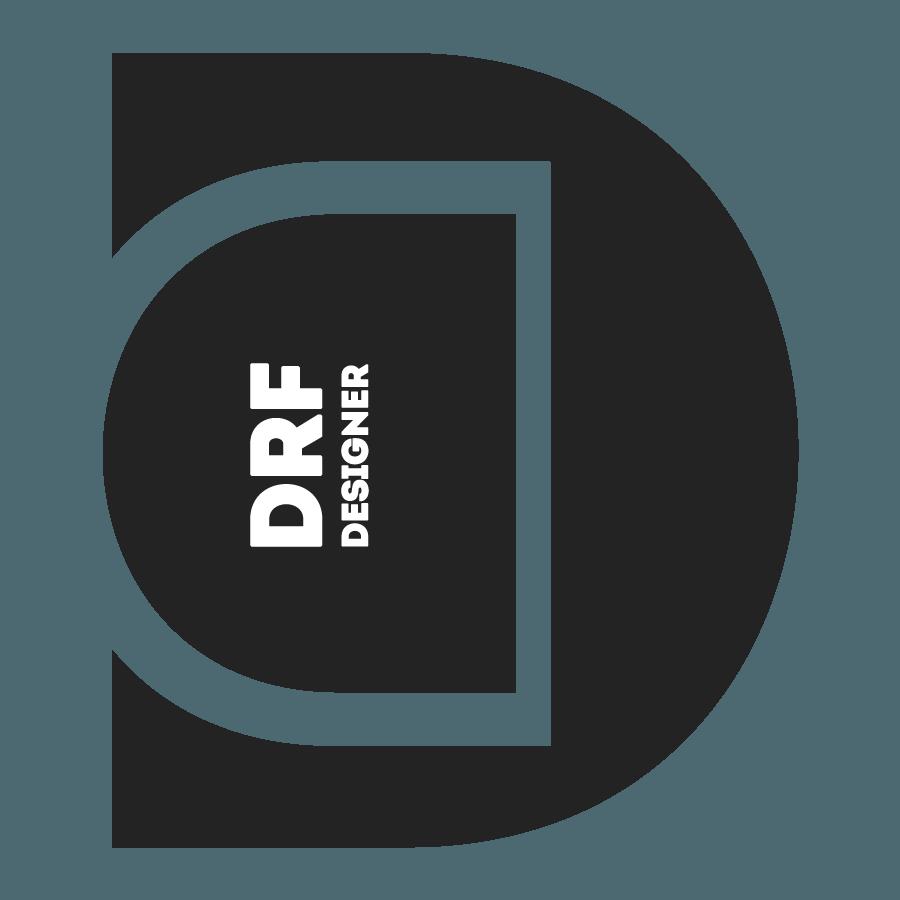 Logotipo, Logomarca, Logo, Marca, Design, Designer Gráfico, Comunicação Visual, Marketing, Adobe Photoshop, Brasil. Logotipo DRF Designer Tir 43 - Uma revolução do Design
