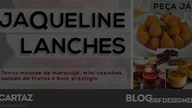Destaque Cartaz Jaqueline Lanches por DRF Designer