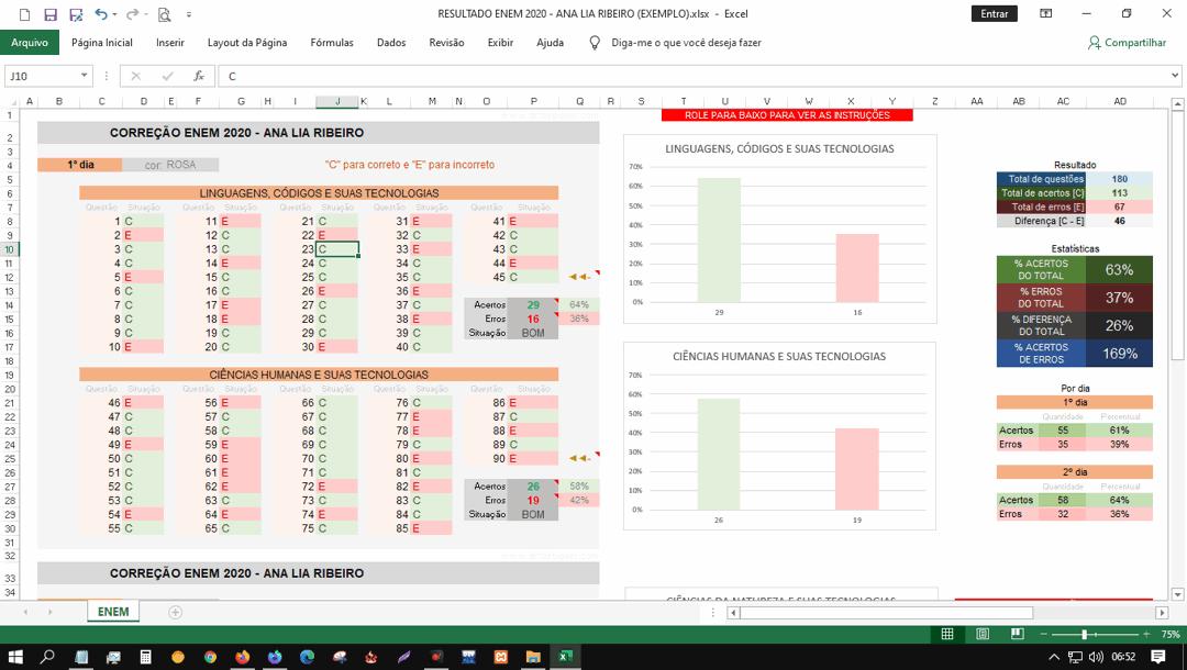 Captura de tela do Microsoft Excel 2016