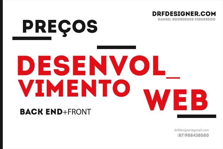 Arte Preços de Serviços de Desenvolvimento Web PHP DRF Designer