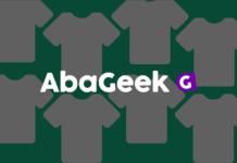 Logotipo de loja virtual de camisetas geek - Branding de AbaGeek. destaque logotipo loja virtual de camisetas abageek, logo ecommerce