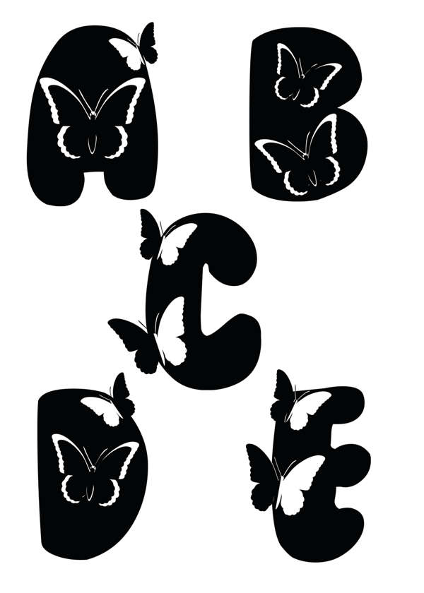 Tipografias e Letras - Alfabeto de Borboletas, Tipografias e Letras, Alfabeto de Borboletas, Tipografia, Letras, Alfabeto, Borboletas, Alfabeto de Borboletas, Alfabeto de Borboletas Pinterest, Pinterest, Pinterest Pins, Design, Art, DRF Designer